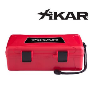 NEW Xikar - Travel Humidor Case - Red - 10 Cigar Capacity