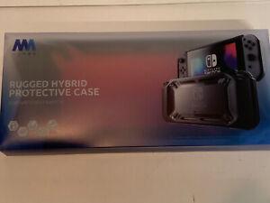 Mumba - Full Protective Dockable TPU Grip Case - Nintendo Switch - Black/Red