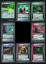 Star Trek CCG Blaze of Glory VERY RARE FOIL Set