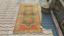 Oushak Rug 3'1x6'1 feet,Anatolian, Turkish kilim, Area, Small, Vintage hand made