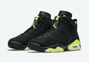 Air Jordan Retro 6 Black Electric Green CT8529-003 Size 4.5 / 8 / 8.5 / 12