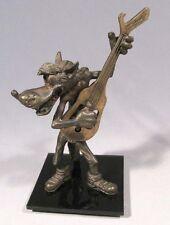 Corkscrew Cap Bottle Opener Russian Figurine Nu Pogodi Beer Wolf Bronze Vintage
