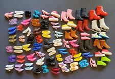 Barbie shoes lot of 65 pairs of matching shoes