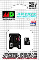 Sega Mega Drive Genesis 16GB microSD SDHC UHS-I Class 10 Memory Card SD Adapter