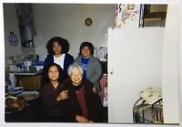 Vintage PHOTO Family Posing in Kitchen During Thanksgiving Dinner