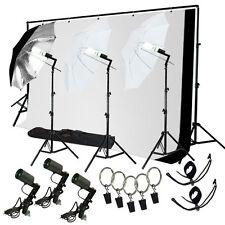 Photo Studio Lighting Photography Backdrop stand Muslin Light Kit LS680