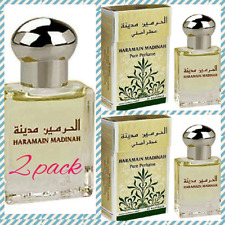 2 pack of Madinah by Al Haramain Famous Oriental Perfume Attar/Ittar 15ml