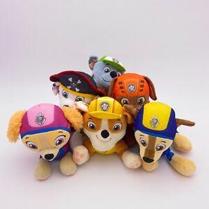 Paw Patrol Plush Lot 6 Stuffed Animals Nickelodeon Sea Patrol Air Patrol Pirate