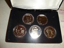 COIN SET OF 5 GREAT AMERICAN PRESIDENTS COMMEMORATIVE COLLECTION 1985 HISTORIC M