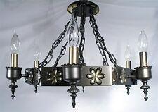 ANTIQUE METAL ART CRAFTS FLOWER DESIGN CEILING HANGING LAMP LIGHT CHANDELIER