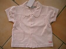 (106) Imps & Elfs Baby Sweatjacke kurzer Arm mit Tasche und Logo Aufnäher gr.86