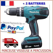 Perceuse Visseuse Sans Fil Batterie Makita HP457DWE Perçage Maison Percussion Fr
