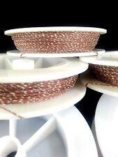 (1) Light Brown w/ White Genuine Irish Linen Single Pool Billiard Cue Wrap Spool