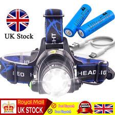 30000LM T6 LED Headlamp Headlight Head Torch Light + Ultrafire 6000mAh Batteries