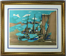 """Marcel Mouly """"Amsterdam"""" Framed Limited Edition Lithograph Hand Signed COA"""