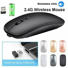 Wireless Mouse 2.4GHz Rechargeable Optical Mice USB For Macbook Laptop PC Tablet
