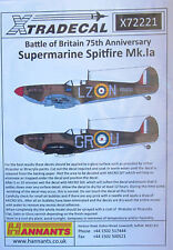 Xtradecal 1/72 X72221 Spitfire Mk I 'Battle of Britain' set 1 Decals