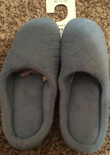 Charter Club Microterry Clog Slipper With Memory Foam  XL 11-12  Light Blue