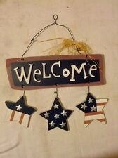 Patriotic Welcome Sign July 4th Usa