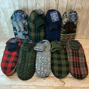 NWT George Men's Mukluk Type Cuff Slipper Socks Size 8-10 or 11-13 Many Colors!