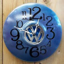"""Vintage Volkswagen Hubcap Wall Clock- 10""""  Handmade"""