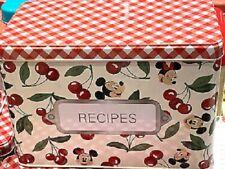 Disney's Retro Style Mickey & Minnie Recipe Cards Tin, NEW