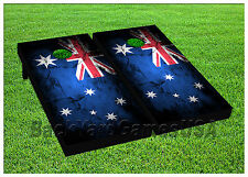 Vinyl Wraps Cornhole Boards Decals Australian Flag BagToss Game Stickers 824