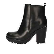 scarpe donna ANGELO BERVICATO 40 EU stivaletti nero pelle AD475-C