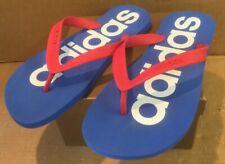 Adidas New Red White Blue Flip Flops 7/8