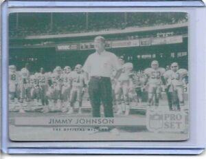1/1 HEAD COACH JIMMY JOHNSON DALLAS COWBOYS PRINTING PLATE 1992 PRO SET 1 OF 1