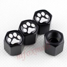 4X Car Tyre Tire Valve Wheel Air Dust Cap Cover Footprint Foot Print Black Style