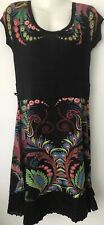 Desigual  Short Sleeve  Black dress ,  uk Size L