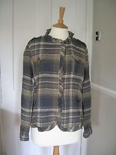 Ladies Maxmara Weekend Linen Jacket Checked size 12