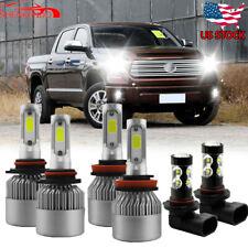 6x Bulbs For Toyota Tundra 07-2013 Combo H11 9005 9145 LED Headlight + Fog Light