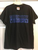 Majestic Golden State Warriors T-shirt Black Blue Sz Large Steph Curry #30 NWT
