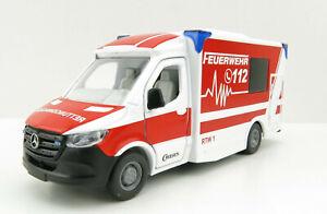 Siku 2115 - Mercedes-Benz Sprinter Miesen Type C Ambulance - Scale 1:50 New 2021