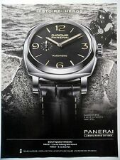 PUBLICITE-ADVERTISING :  PANERAI Radiomir 1940 3 Days  2014 Montres