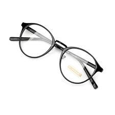Nerd Brille filigran rund Glasses Klarglas Hornbrille treber tom retro 94R72 BLK