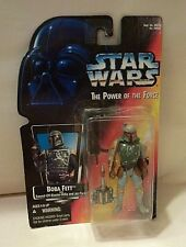 STAR WARS BOBBA FETT POWER OF THE FORCE ACTION FIGURE MINT ON CARD-1995-KENNER