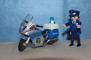Playmobil Polizei Motorrad 4261 mit LED Licht, anschauen !