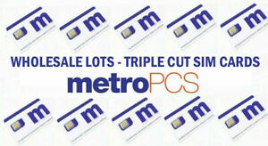 Lot OF 100 BRAND NEW METRO PCS (METRO BY T-MOBILE) TRIPLE CUT DATING 11/03/2020