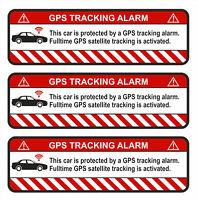 3er Set GPS Auto Weiß Aufkleber Folie Diebstahlschutz Alarm Tracker R054