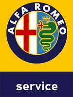 Alfa Romeo Servicio Garaje Taller Metal Decoración de Pared Signo Placa