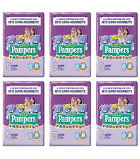 120 Pannolini PAMPERS PROGRESSI Pannolini Bambini taglia 5 Junior 11-25 kg NUOVI