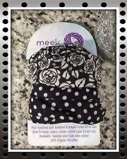 Hair Scarf Wrap Headband Multifunctional Black Polka Dot & Black Rose