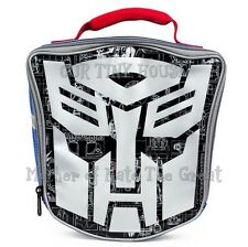 Transformers Lunch Bag Generations Autobots Mask Die Cut Silver Face Insulated