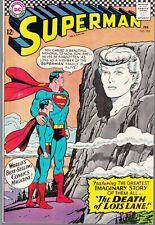 SUPERMAN #194 1967 DC -IMAGINARY STORY/ DEATH OF LOIS LANE-...VF+
