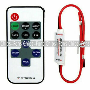 Mini 12V RF Wireless Remote Switch Controller Dimmer for LED Strip Light CF L