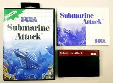 Submarine Attack Sega Master System Game Complete with Manual