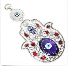 "Turkish Blue Evil Eye 5"" Hamsa Hand Flower Amulet Wall Hanging Protection Decor"